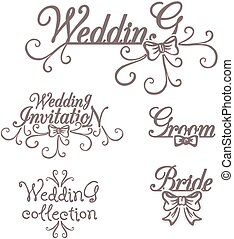 Wedding collection. Bride Groom Invitation.