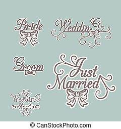 Wedding collection. Bride Groom Invitation.