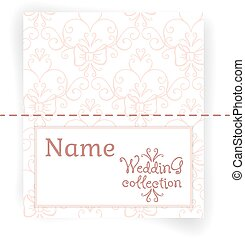 Wedding collection. Name Cards design template.