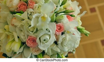 wedding colorful bouquet for bride.