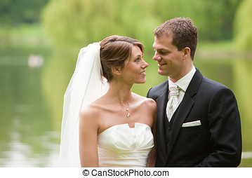 Wedding couple - Attractive young couple ready on their ...
