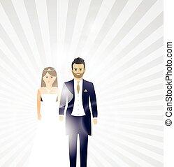 wedding couple background