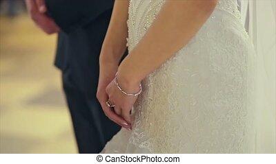 Wedding Couple, Bride and Groom Hands