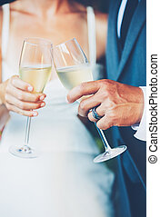 Wedding Couple Champagne