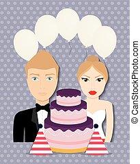 Wedding couple design