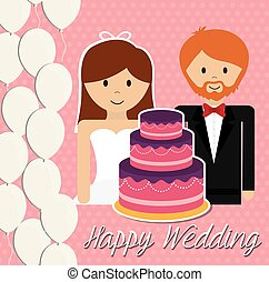 Wedding couple design