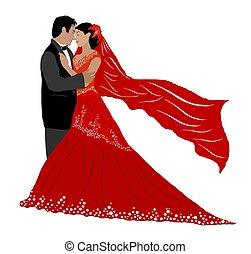 wedding couple isolated