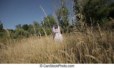 Wedding Couple On Nature