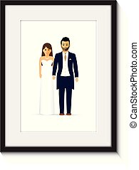 wedding couple photo frame