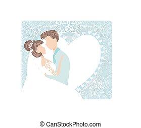 wedding couple - Stylish invitation card