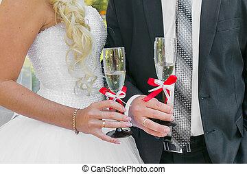 Wedding couple. The bride and groom.