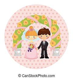 wedding couple theme elements