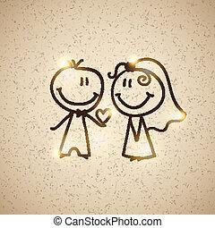 wedding couple, vector eps 10
