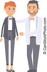 Wedding couple vector people