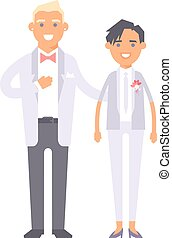 Wedding couple vector people