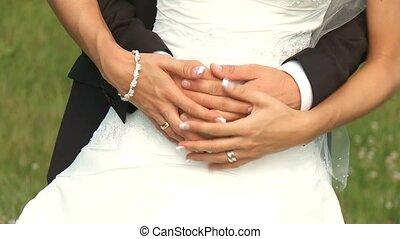 Wedding Couple - video footage of a wedding couple