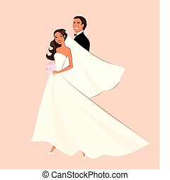 Wedding Couple - Wedding couple illustration.