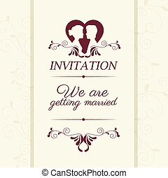 Wedding cute card