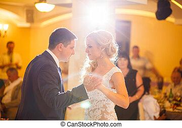 wedding dance - The wedding ceremony beautiful bride and...