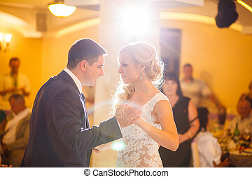 wedding dance - The wedding ceremony beautiful bride and...