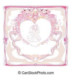 Wedding dancers - invitation card