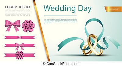 Wedding Day Festive Decoration Concept - Wedding Day festive...