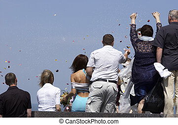 wedding day - happy wedding party