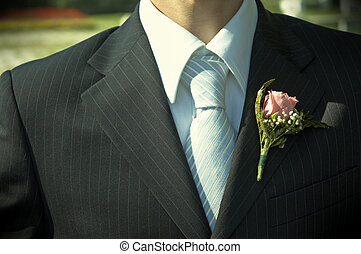 wedding day - necktie of the fiance in close up(special...