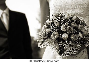 wedding day - special sepia toned film photo f/x,focus point...