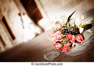 Wedding day - White flowers wedding. Wedding concept.
