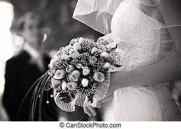 bridal bouquet(focus on the flowers, special photo f/x)