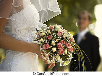 Wedding day(special photo f/x) - bridal bouquet(focus on the...