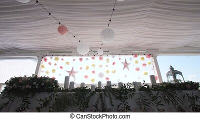 Wedding decor in the banquet hall. - Wedding decorations....