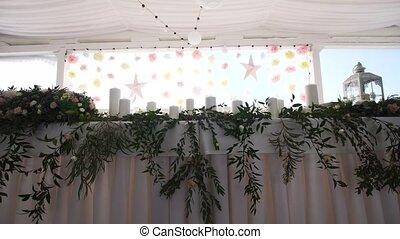 Wedding decor in the banquet hall. - Wedding decorations....