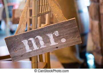 Wedding Decor Mr and Mrs Sign