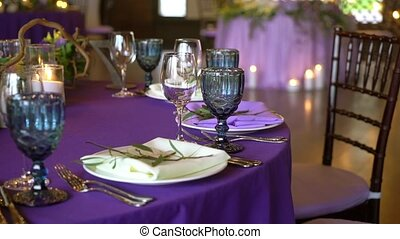 Wedding decor. Wedding interior. Table layout concept. Table...
