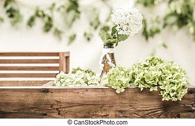 wedding decor with flowers