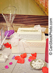 wedding decoration for the ceremony on table