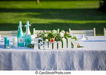 Wedding decoration in forest