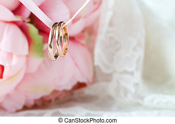 Wedding decoration in pink color