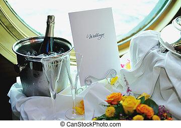 Wedding decoration of table