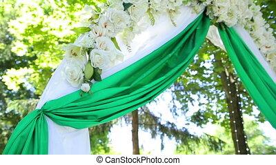 wedding decoration on ceremony
