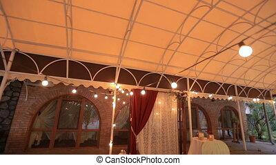 Wedding decoration. Wedding arch