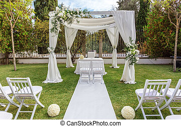 Wedding decorations for newlyweds.