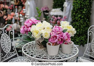 Pfingstrosen blumen bogen wedding pfingstrosen blumen wedding bogen mehrfarbig - Pfingstrosen dekoration ...