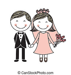 wedding design over white background vector illustration