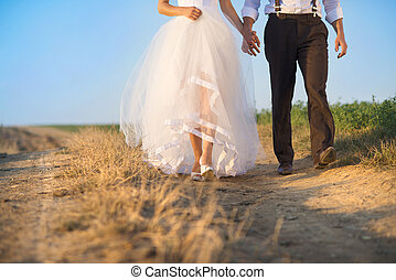 Wedding details in nature