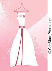 Wedding dress - A vector illustration of a wedding dress