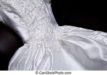Wedding Dress - appliquéd wedding dress with pearls and...