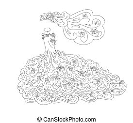 Wedding dress art